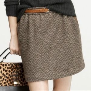 J. Crew Leather Tipped Bell Skirt Sz 10 ::UU12